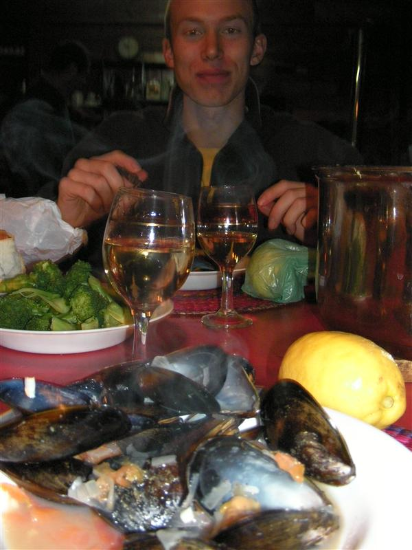dinner of mussels