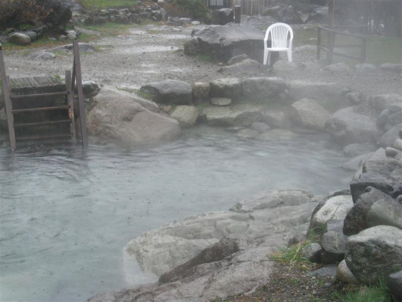 the pool of the hot springs