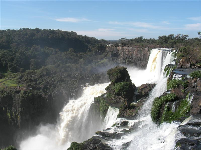 Falls From the side, Foz de Iguazu