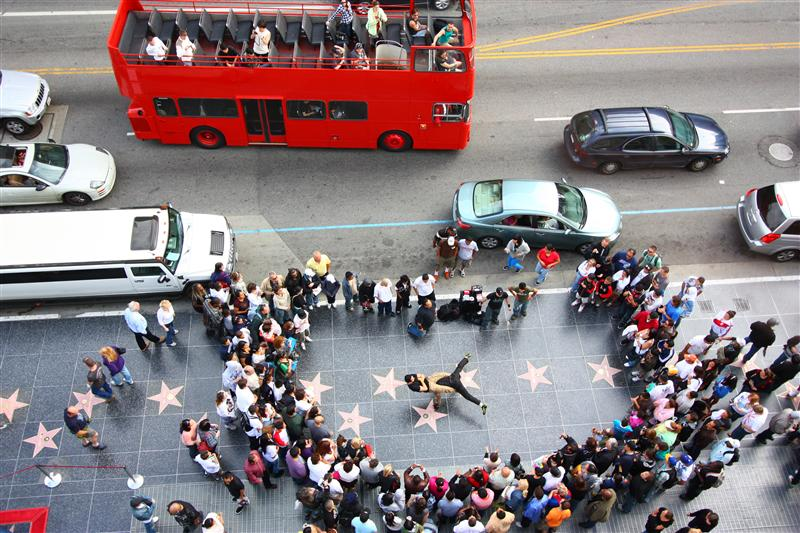 B-Boy street performance along Hollywood Boulevard - cool!