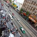 Great view of Hollywood Boulevard from 4th floor of Hollywood and Highland Centre. 