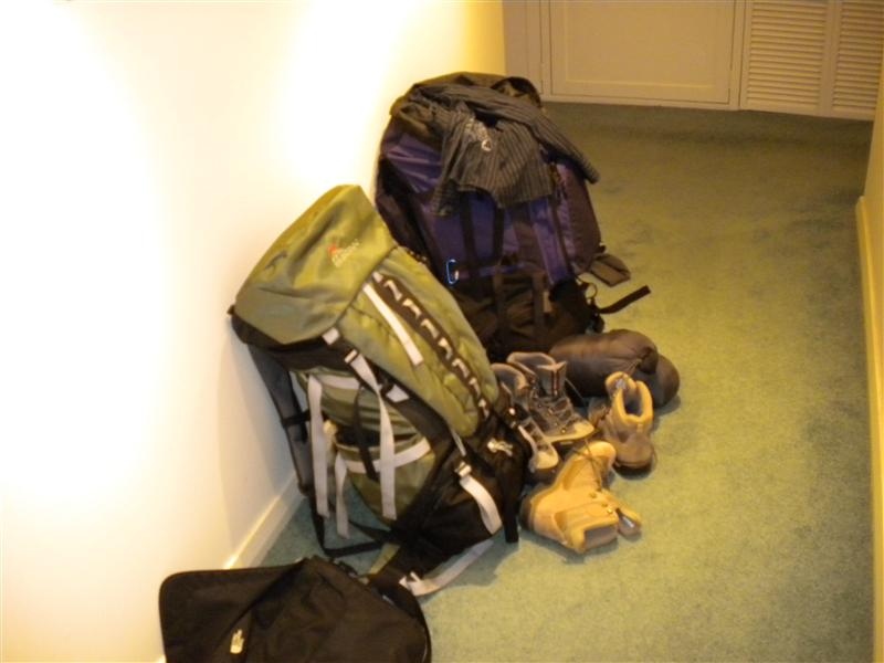 getting ready to leave
