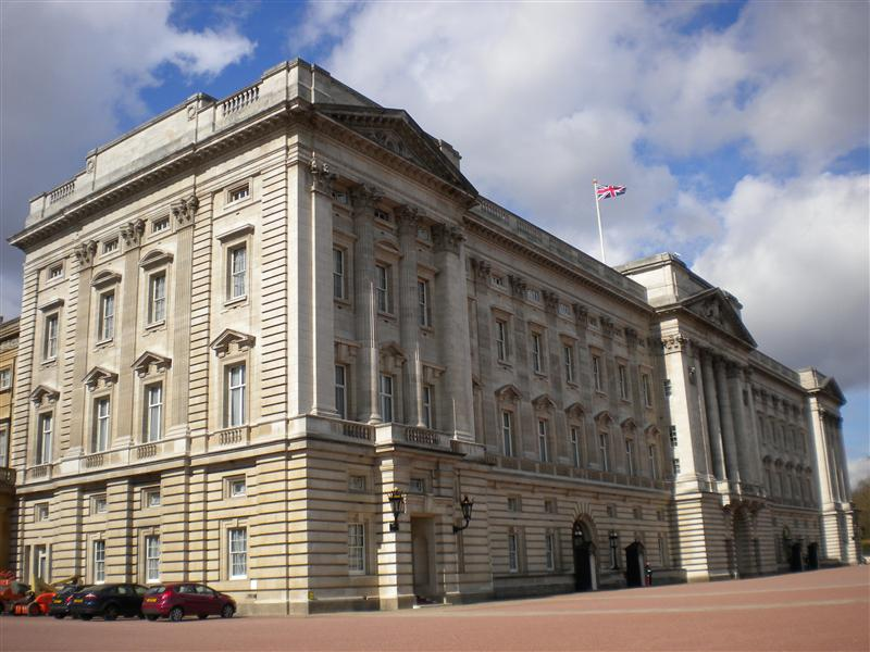 Buckingham Palace.  The queen was home but sadly didn't invite us in for a cup of Earl Gray.