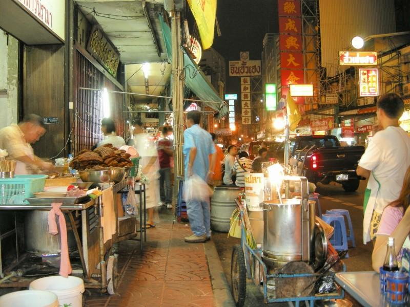 A street vendor in Chinatown who made some amazing, but very spicy, pork soup
