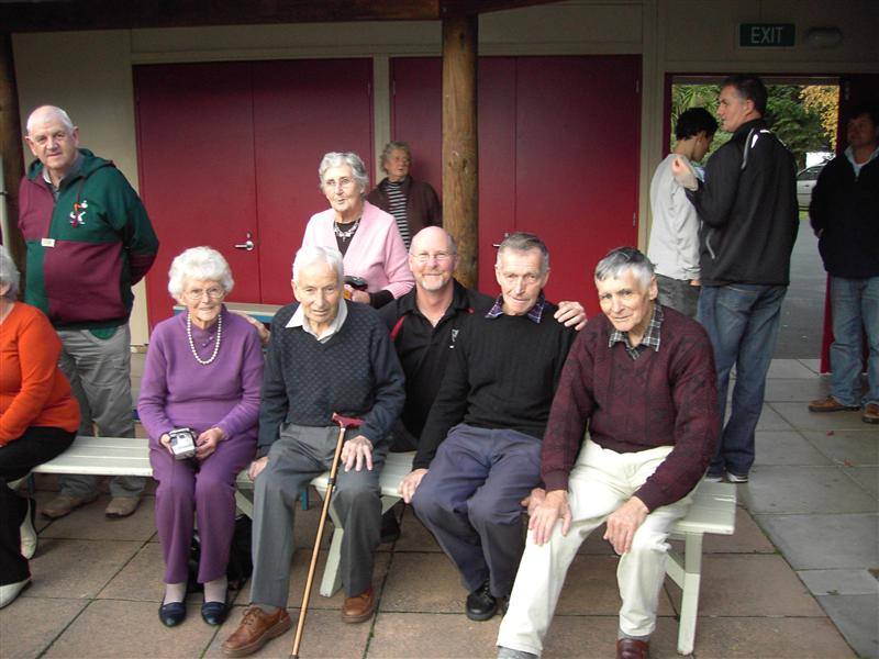 Second Cousins Mary Rapson, Hugh A. Muldrew and wife Trixie, Andy Muldrew & Ron Muldrew