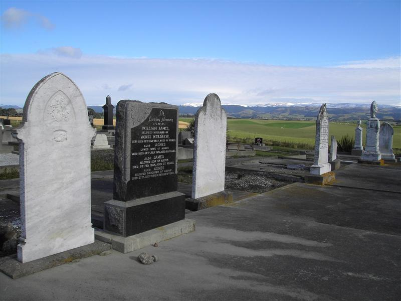 Muldrew Headstones - Maheno Cemetary
