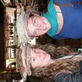 hannah and me in mens local hats! karimabad, Pakistan