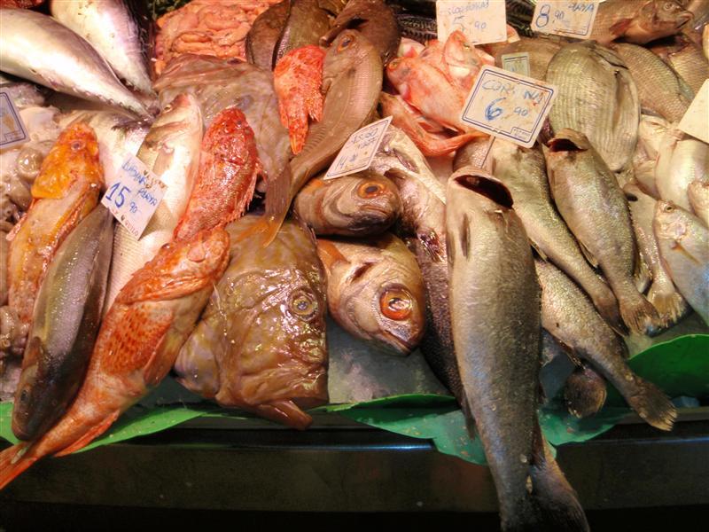 Fresh fishies!  Las Ramblas