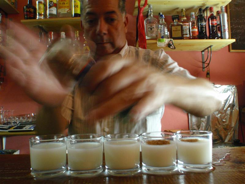 George making shots after the penny drinking game