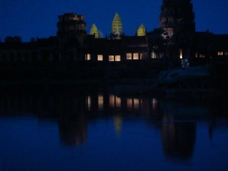 Angkor Vat nach Sonnenuntergang