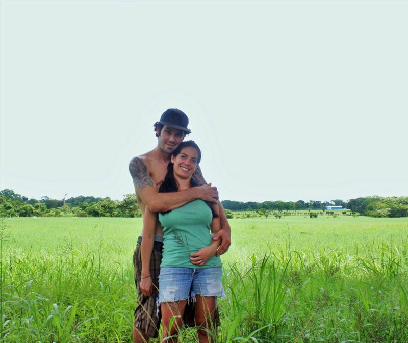 Ryan and Debb in the hills- CR rainy season