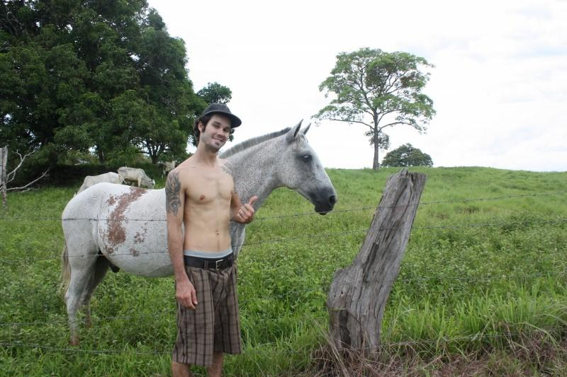 Ryan and a horse