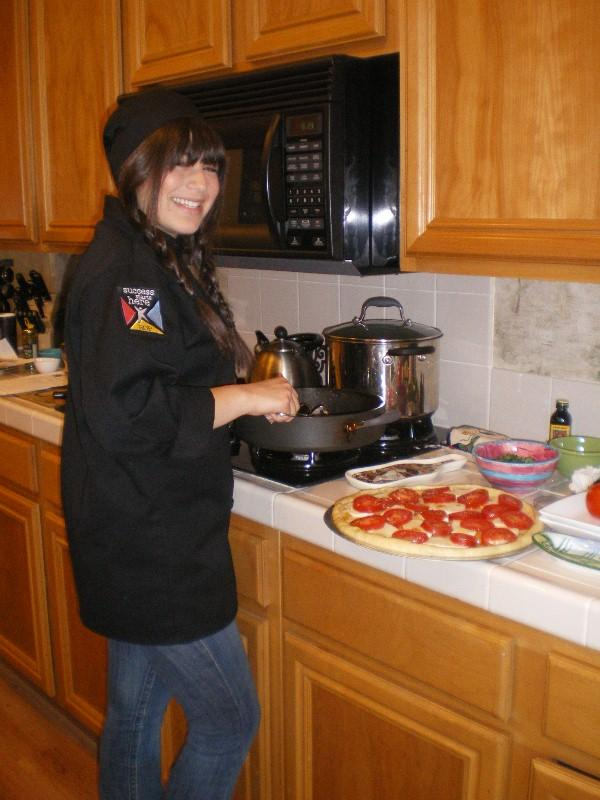 Kiersten in her chef outfit