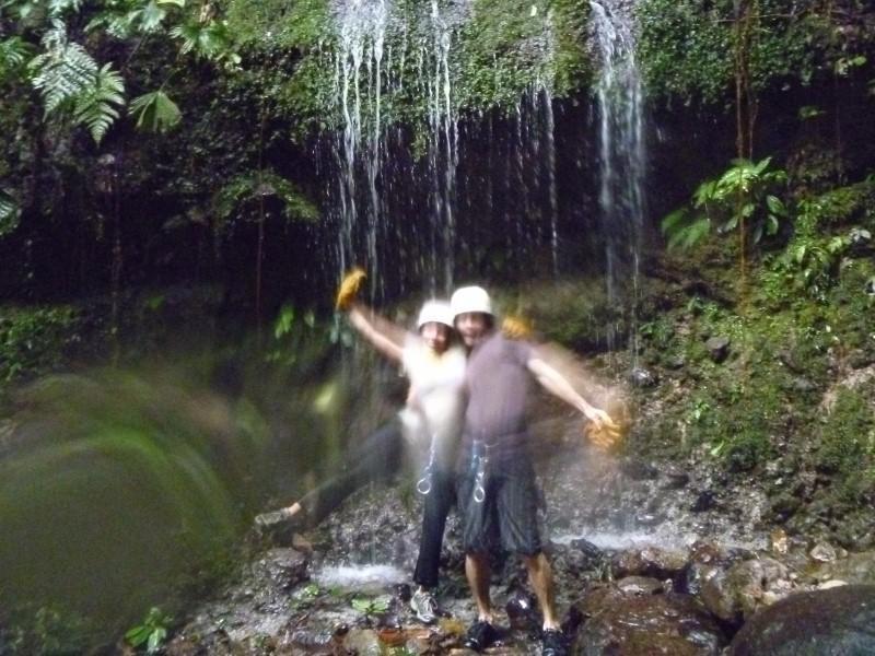 Debb and Ryan trekking through the canyon