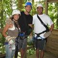 Me, Brandon and Steve zip lining