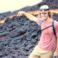 Ryan touching the Lava