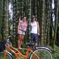 Debb & Ryan in front of Giant Bamboo trees