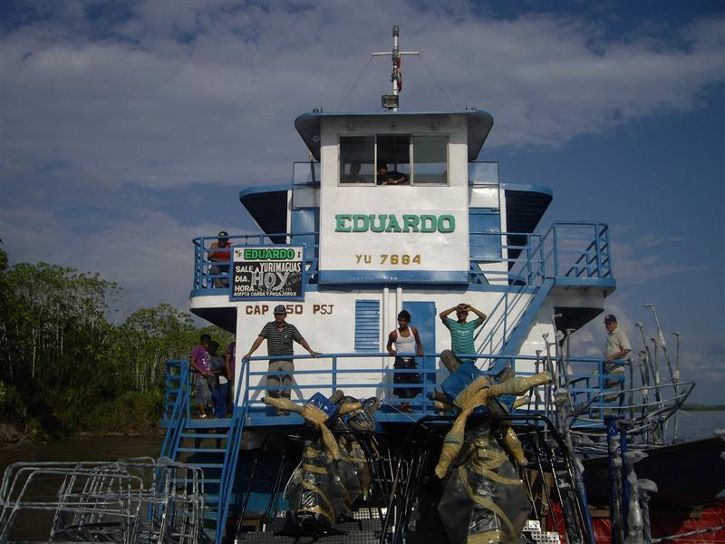 El barco de Iquitos a Yurimaguas