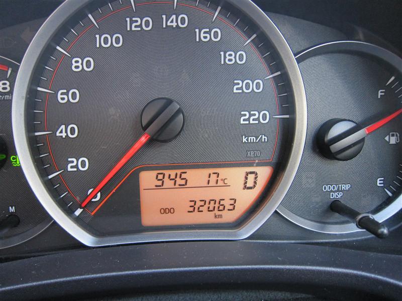 Car #2, End mileage
