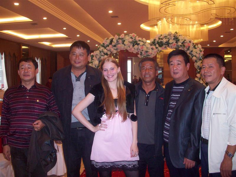 All the chinese men wanted a photo with Teenager