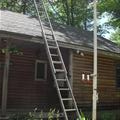 The safer ladder method, ladder to pole not a good idea