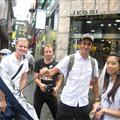 The gang in Myeongdong