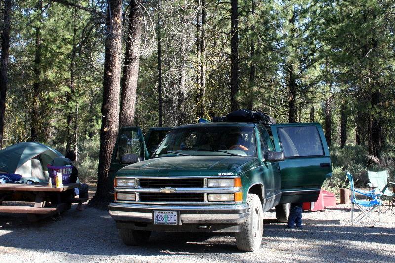 Campsite at Williamson River