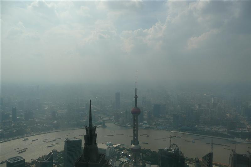 The skyline from the 100th Floor of the Shanghai World Financial Center