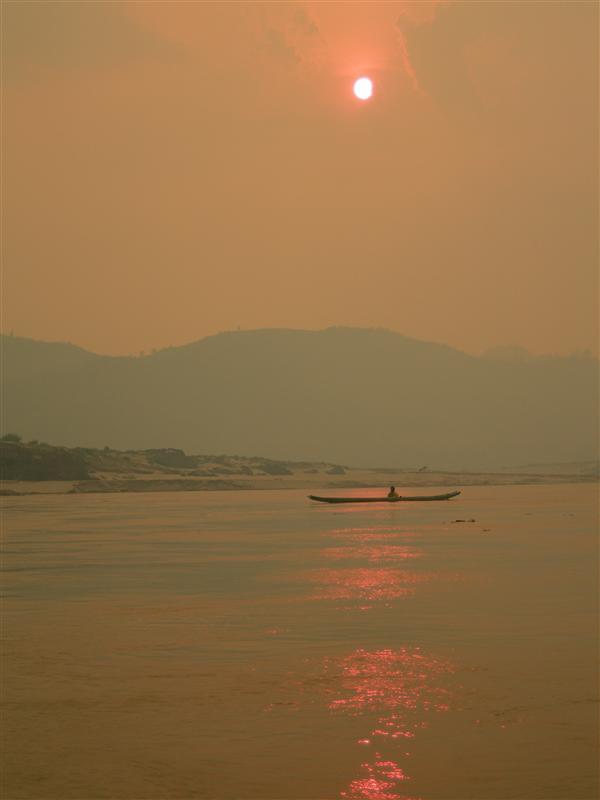 Sunset over the Mekong