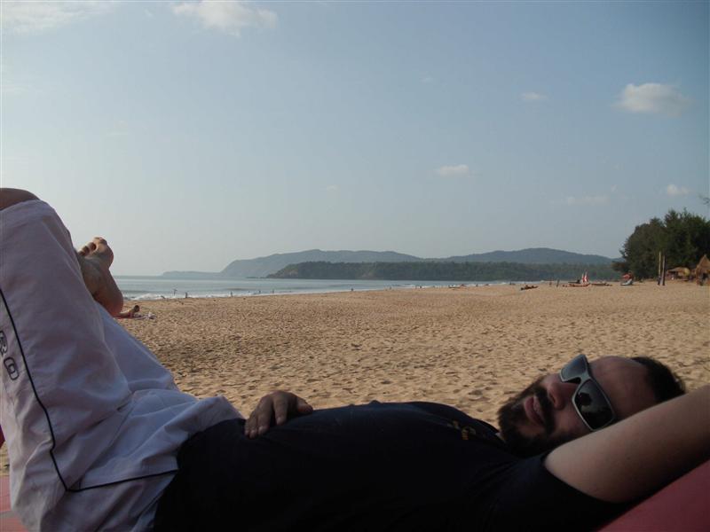 relaxing in Palolem (Goa)