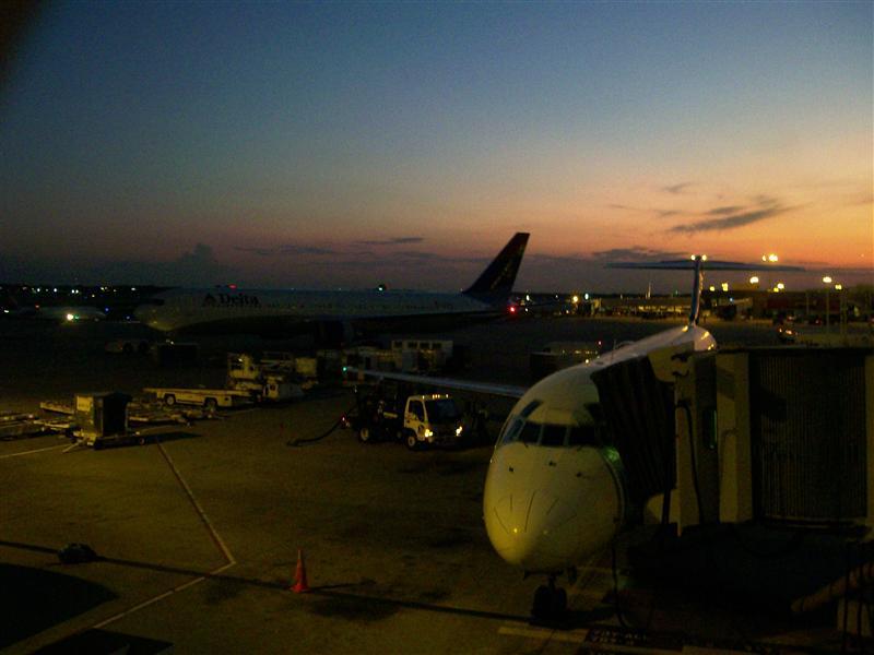 A plane...