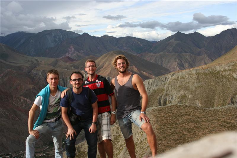 Phillip, Ich, Thies und Peter auf nem Berg bei Iruya