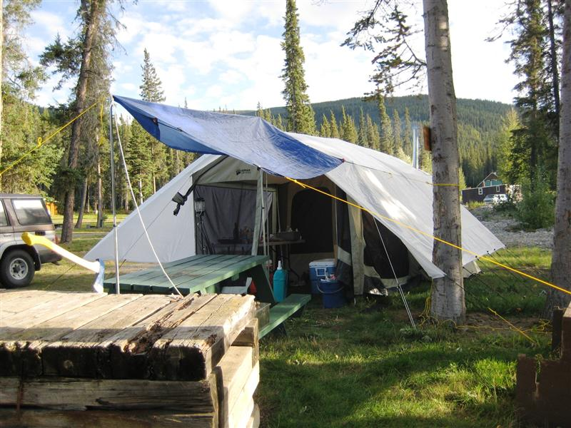Camp by Dease River Crossing