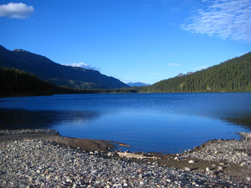 View over Dease Lake