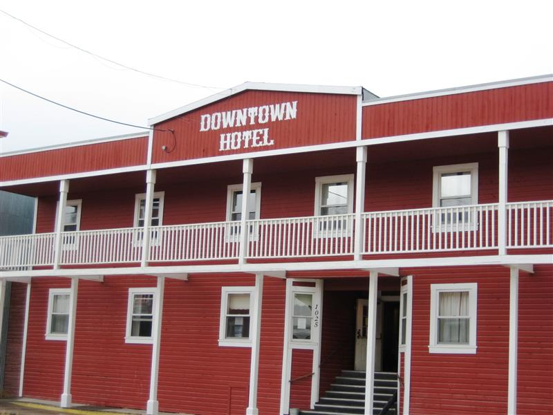 Downtown hotel in Dawson