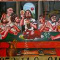 A common depiction of the Last Supper