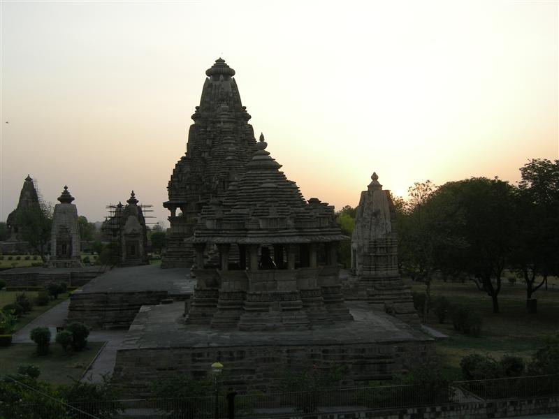 sunset on the temple