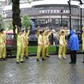 white guys doing tai chi in the rain