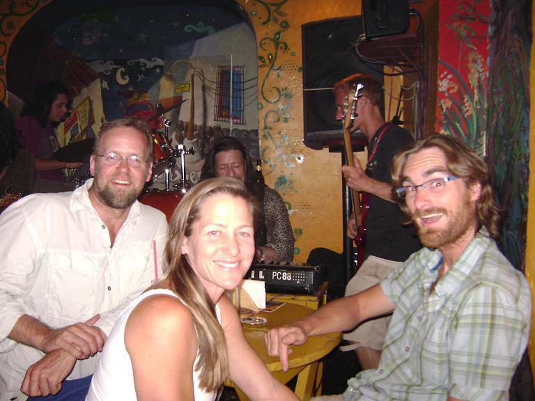 Paul, Helen and Jason at km0 bar in Cusco