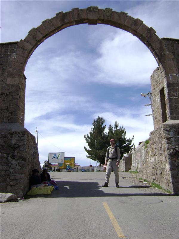 Border arch into Bolivia