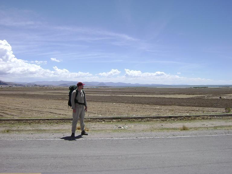Paul at Peru-Bolivia border