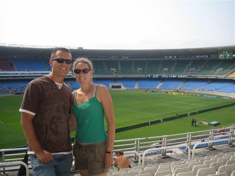 Us at Maracana stadium