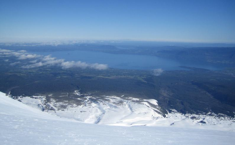 View from Villarica, a little steep!!
