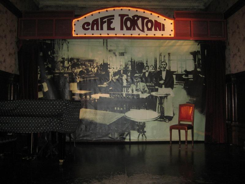 Cafe Tortoni's tango stage