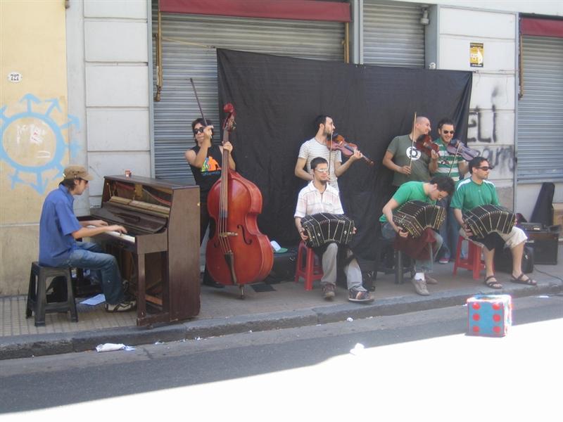 Tango musicians San Telmo