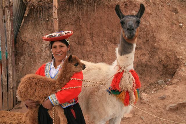 Lady with Llama