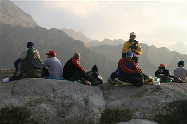 Porters at sunset
