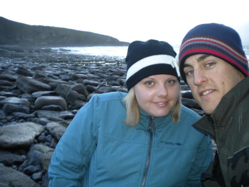 Us at the Welsh Coastline