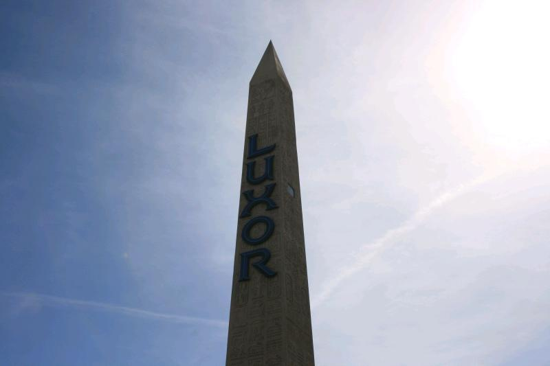 The Luxor sign