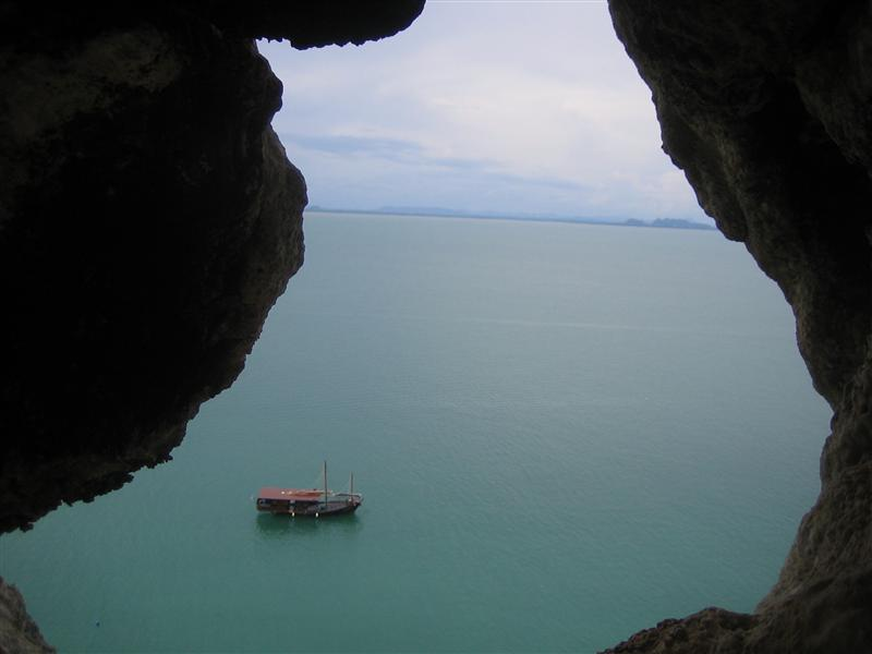 View from top of Gengis Bond (6b) on The Keep Wall